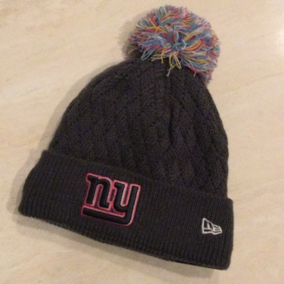 Nfl Accessories Ny Giants Womens Crucial Catch Pom Knit Hat Poshmark